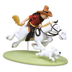 Cowboy Tintin and Snowy Polyresin Model