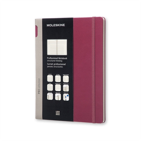 Moleskine Professional Notebook Extra Large Plum Hard Cover