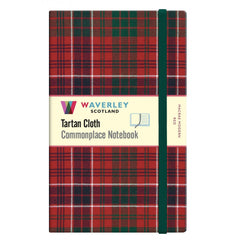 Tartan Cloth Notebook - MacRae Modern Red (Large)