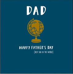 Happy Father's Day Best Dad In The World Card