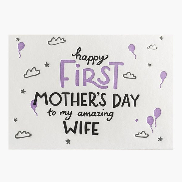 Happy First Mother's Day to My Amazing Wife Card