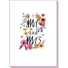 Wedding Card - Mr and Mrs
