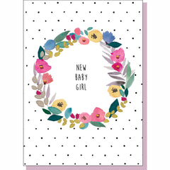New Baby Card - Girl Floral