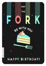 May the Fork Be With You Birthday Card