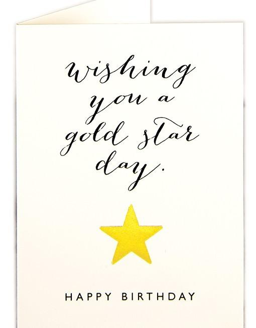 Gold Star Day Birthday Card