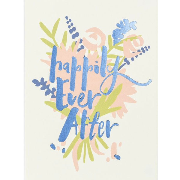 Happily Ever After Floral Card