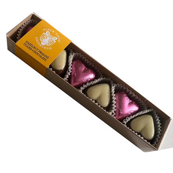 Paper Tiger Pink And White Praline Hearts Box
