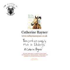 Hello, Horse Happy Birthday Card by Catherine Rayner