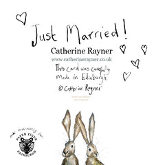 Heidi and Hilary Just Married! Card by Catherine Rayner