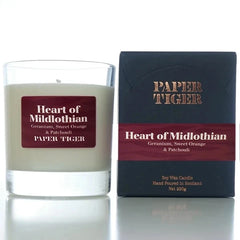 Paper Tiger Heart of Midlothian Geranium, Sweet Orange & Patchouli Large Candle