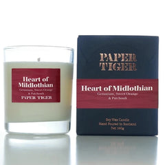 Paper Tiger Heart of Midlothian Geranium, Sweet Orange & Patchouli Medium Candle
