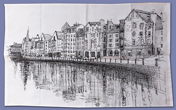 Leith Sketch Tea Towel