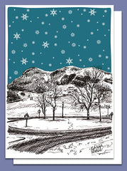 Arthur's Seat in Snow Christmas Card