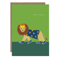 King Of Them All Lion Card
