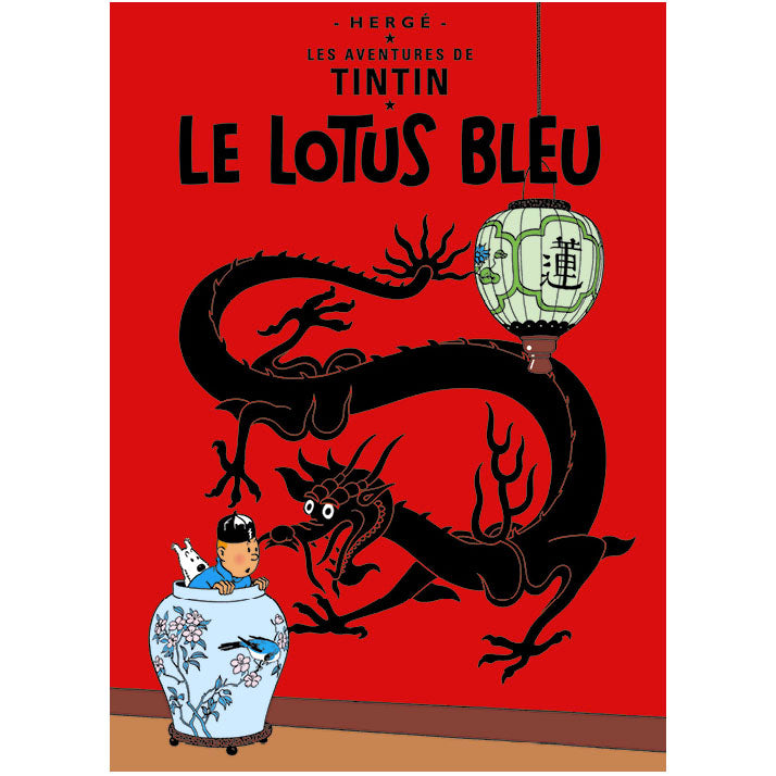 The Blue Lotus Tintin poster