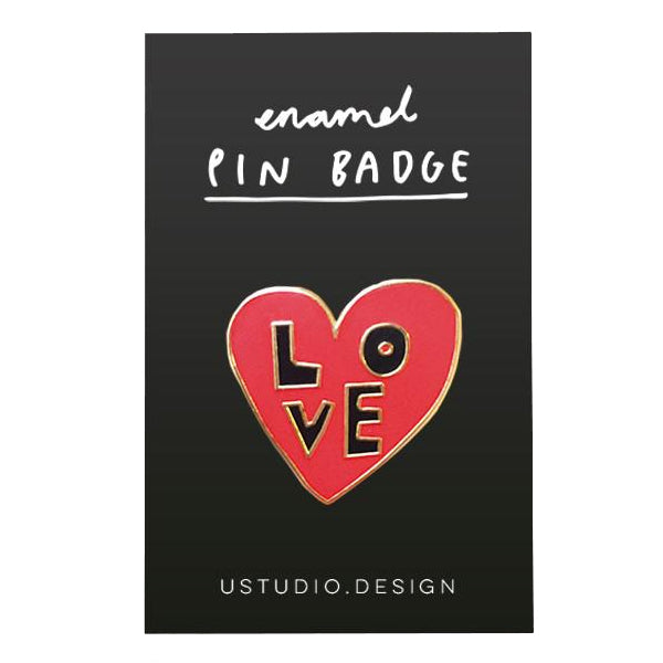 Love Heart Pin Badge