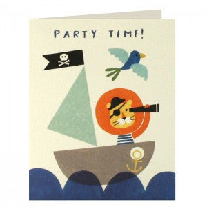 Pirate Lion Invitation Pack of 5 Cards