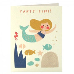 Mermaid Invitation Pack of 5 Cards