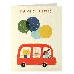 Bus Party Invitation Pack of 5 Cards
