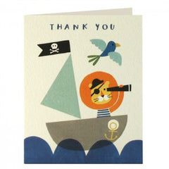 Pirate Lion Thank You Pack of 5 Cards