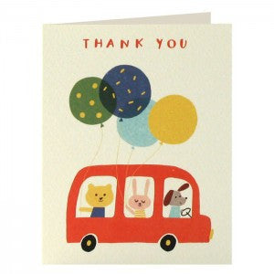 Bus Thank You Cards Pack of 5
