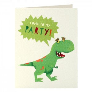 Dinosaur Invitation Pack of 5 Cards