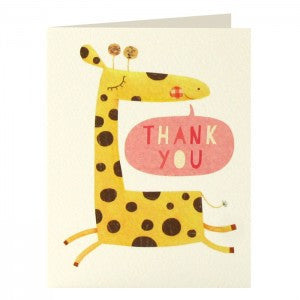 Giraffe Thank You Pack of 5 Cards