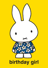 Miffy Birthday Girl Card