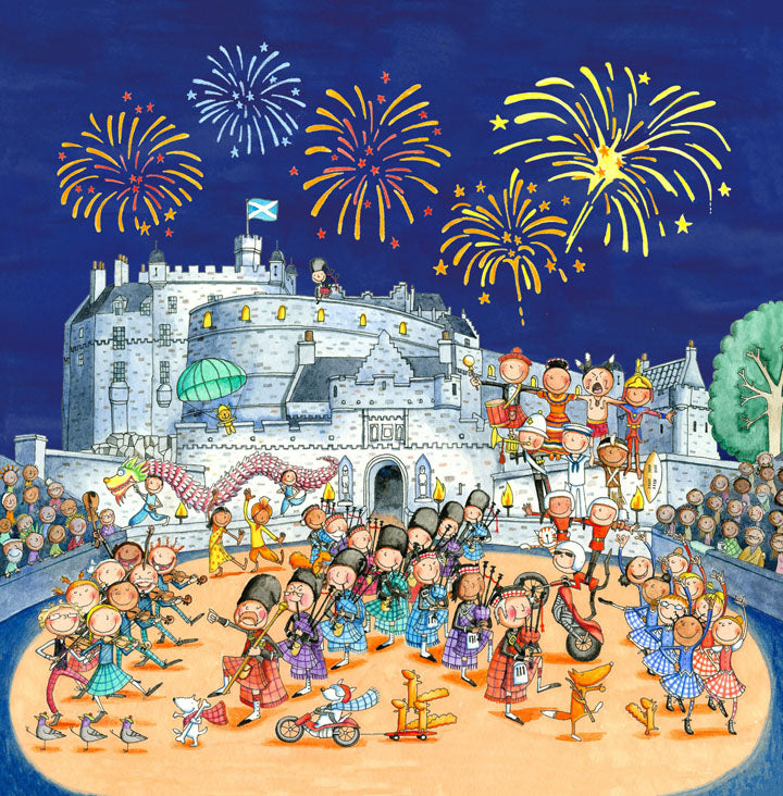 The Edinburgh Tattoo Gingerpaws Square Card