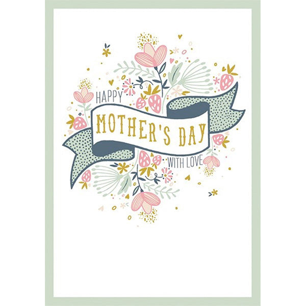 Happy Mother's Day With Love Banner Card