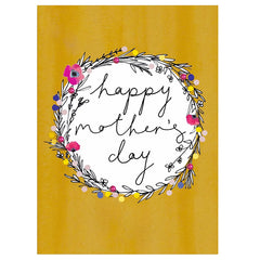 Mother's Day Floral Wreath Card