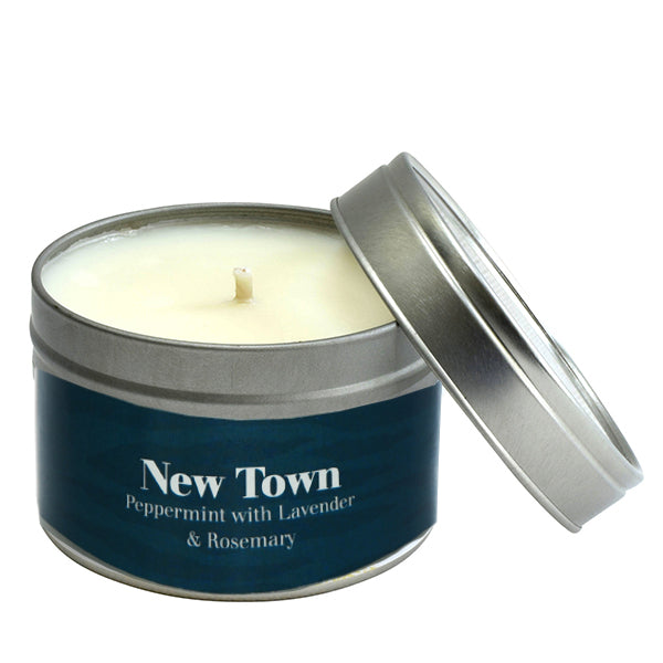 Paper Tiger New Town Peppermint, Lavender, and Rosemary Small Candle Tin