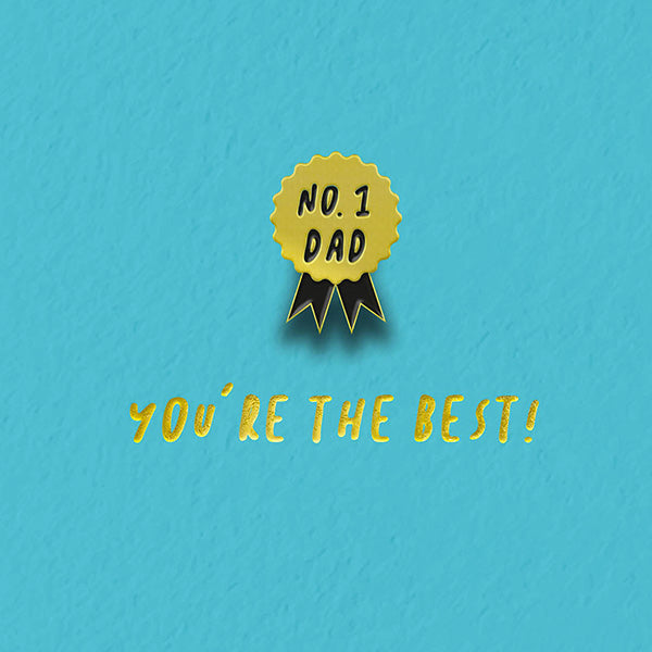 You're The Best No.1 Dad Pin Badge Card