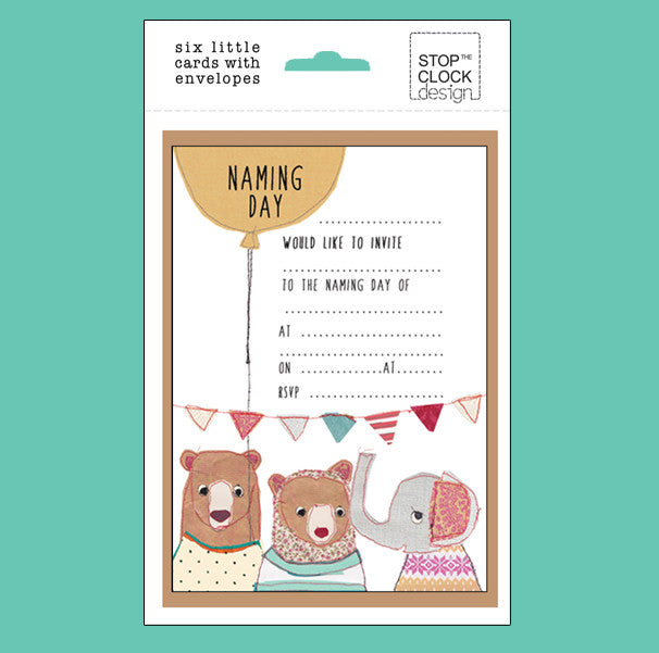 Naming Day Pack of 6 Invitations