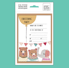 Christening Party Invitation Postcards - Pack of 6