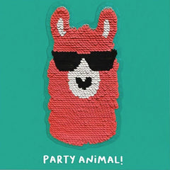 Party Animal Llama Sequin Patch Card