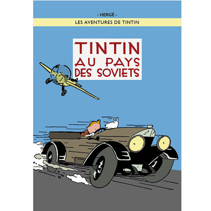 Land of the Soviets Tintin Poster