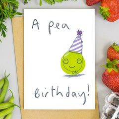 A Pea Birthday Card