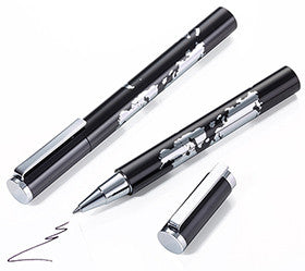 Troika World In Your Hand Black and Silver Rollerball Pen