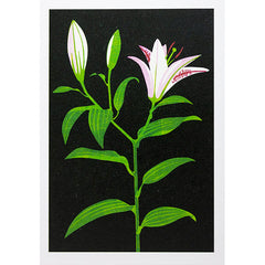 Lily Linocut Card