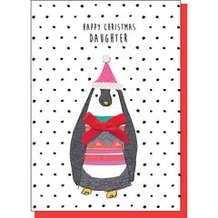 Christmas Penguin Daughter Card