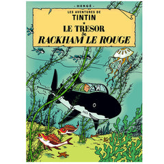 Red Rackham's Treasure Tintin Poster