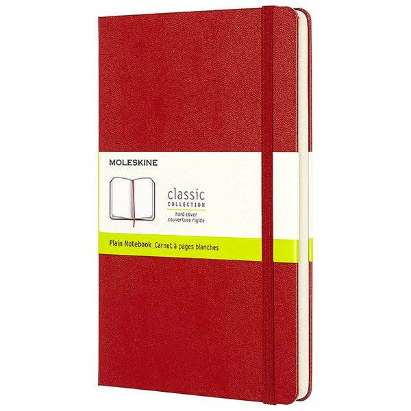 Moleskine Plain Large Notebook Red