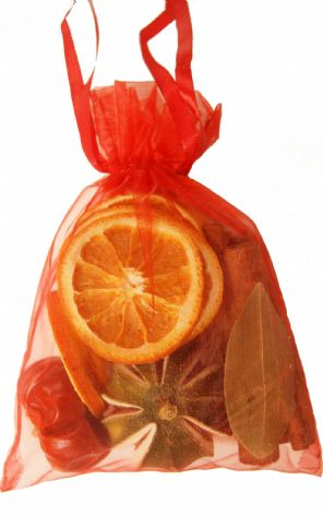 Dried Fruit in Red Organza Bag