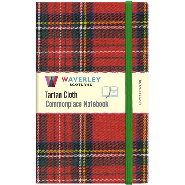 Tartan Cloth Notebook - Royal Stewart (Large)