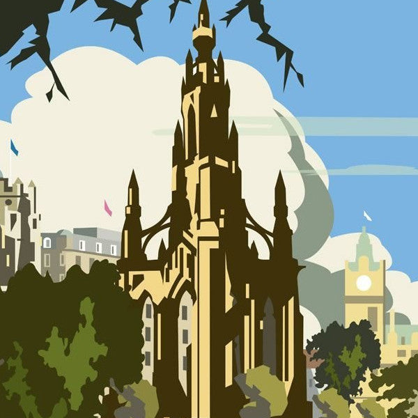 Scott Monument Edinburgh Magnet