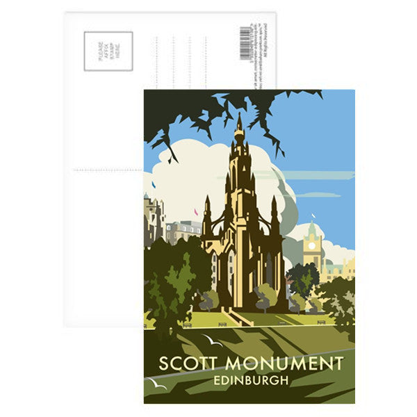 Scott Monument Edinburgh Postcard