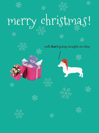 Christmas Card - Frankie Dog Ebay