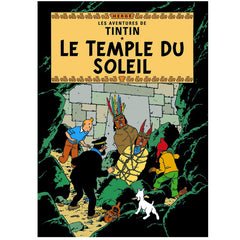 Prisoners of the Sun Tintin Poster