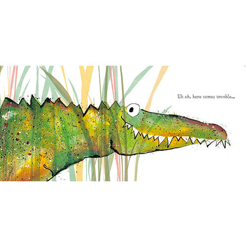 Solomon Crocodile Card by Catherine Rayner